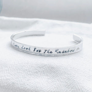 Silver Bangle - When It Rains Look For The Rainbow - emma-lamour