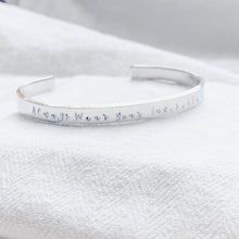Load image into Gallery viewer, Silver Bangle - Always Wear Your Invisible Crown - emma-lamour