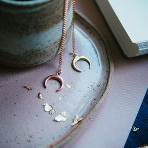 Sterling Silver Crescent Moon Necklace