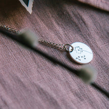 Load image into Gallery viewer, Make A Wish Sterling Silver Disc Necklace