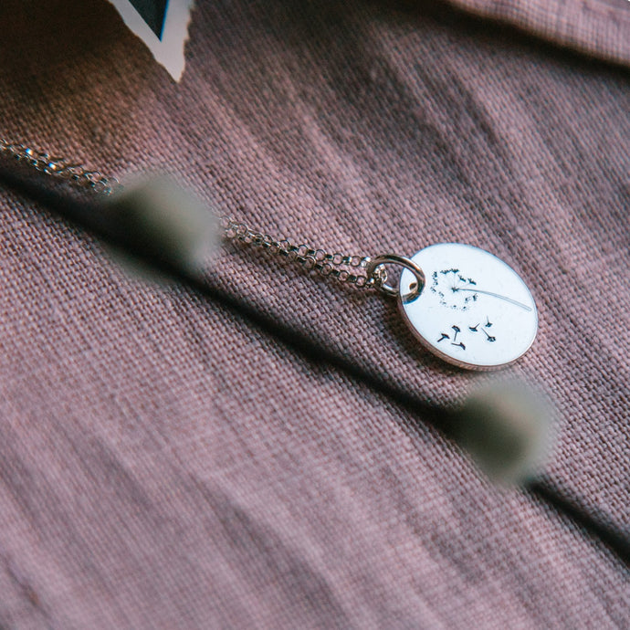 Make A Wish Sterling Silver Disc Necklace