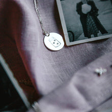 Load image into Gallery viewer, Jar Of Hearts Sterling Silver Disc Necklace