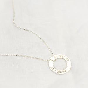 Silver Washer Necklace - emma-lamour