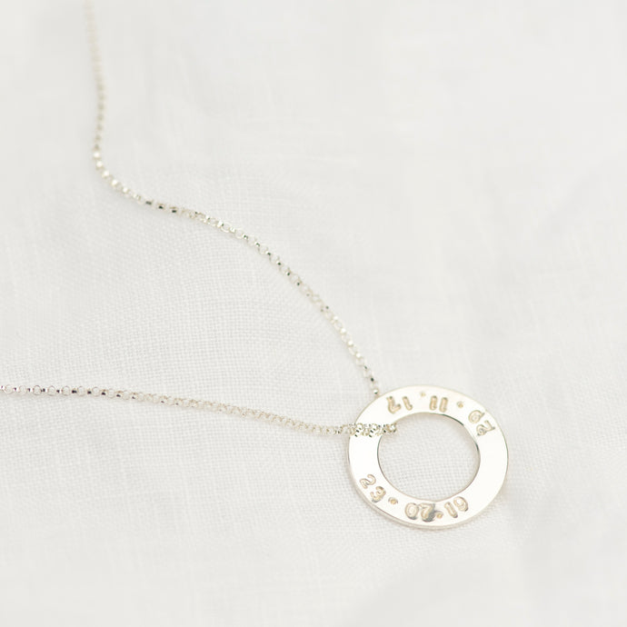 Silver Washer Necklace - Emma L'Amour