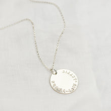 Load image into Gallery viewer, Personalised Maxi Sterling Silver Disc Necklace - emma-lamour