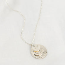 Load image into Gallery viewer, Personalised Stacked Special Message Sterling Silver Necklace - emma-lamour