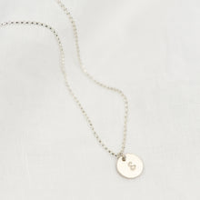 Load image into Gallery viewer, Silver Mini Disc Necklace - emma-lamour