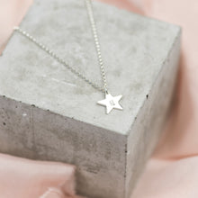 Load image into Gallery viewer, Silver Dainty Star Necklace | Initial Necklace - Emma L'Amour