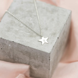 Personalised Little Star Sterling Silver Necklace - emma-lamour