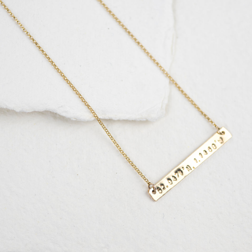 Gold Bar Necklace - Emma L'Amour