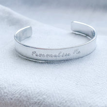 Load image into Gallery viewer, Personalised Chunky Silver Bangle - emma-lamour