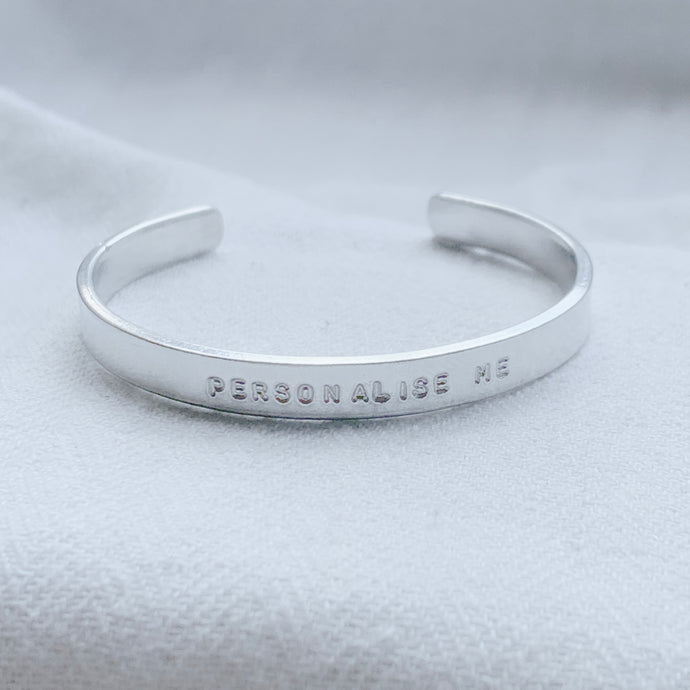 Personalised Skinny Silver Bangle - emma-lamour