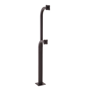 Double Gooseneck Post Surface Mounted - shop-gate-openers