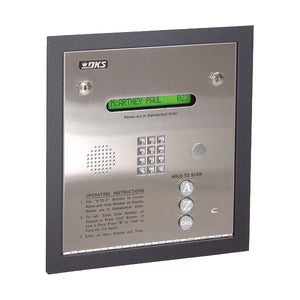 Doorking 1835-084 Telephone Entry System Flush Mounted