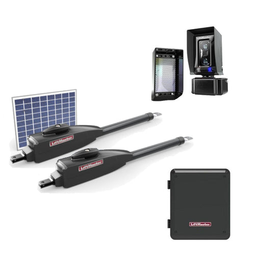 Liftmaster LA412 Bi Parting Solar Swing Gate Opener
