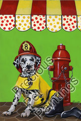 Dalmatian Firehouse Dog-CL