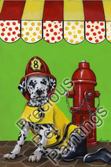 Dalmatian Firehouse Dog-LF