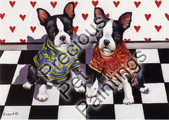 Boston Terrier Puppy Love-GF