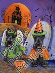 Scottish Terrier Haunted House-LF