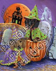 Dachshund Haunted House-LF