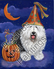 Old English Sheepdog Halloween-LF