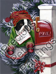 Boston Terrier Letter Santa-MP