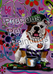 English Bulldog Flower Power-GF