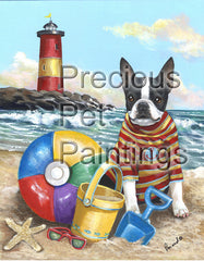 Boston Terrier Beach Baby-PZ