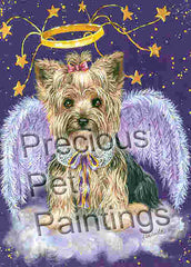Yorkshire Terrier Purple Angel-PZ