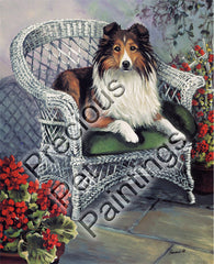 Shetland Sheepdog Patio Jewel-GF