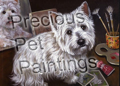 West Highland Terrier Artist's Assistant-NC
