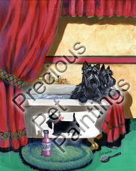 Scottish Terrier Bath Time-GF