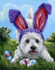 West Highland Terrier Egg Hunt -GF