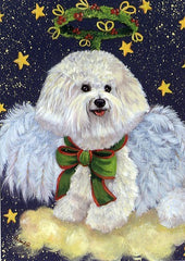 Bichon Frise Holiday Angel-LF