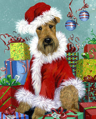 Airedale Terrier Santa-CT