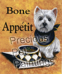 West Highland White Terrier Bone Appetit-LF