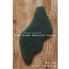 Load image into Gallery viewer, CJB Dark Green Nephrite Jade Stone