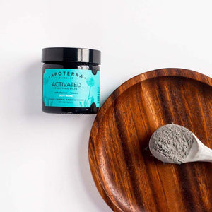 Mask, Activated purifying mask with charcoal & flowers