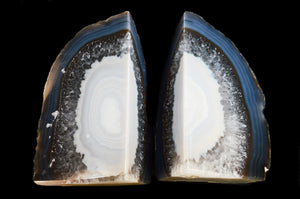 "Agate Geode Bookend 4""-5"" 2-3 Lb Natural"