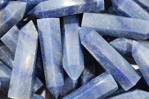 "Blue Quartz Point 2 3/4"" Throat Chakra"