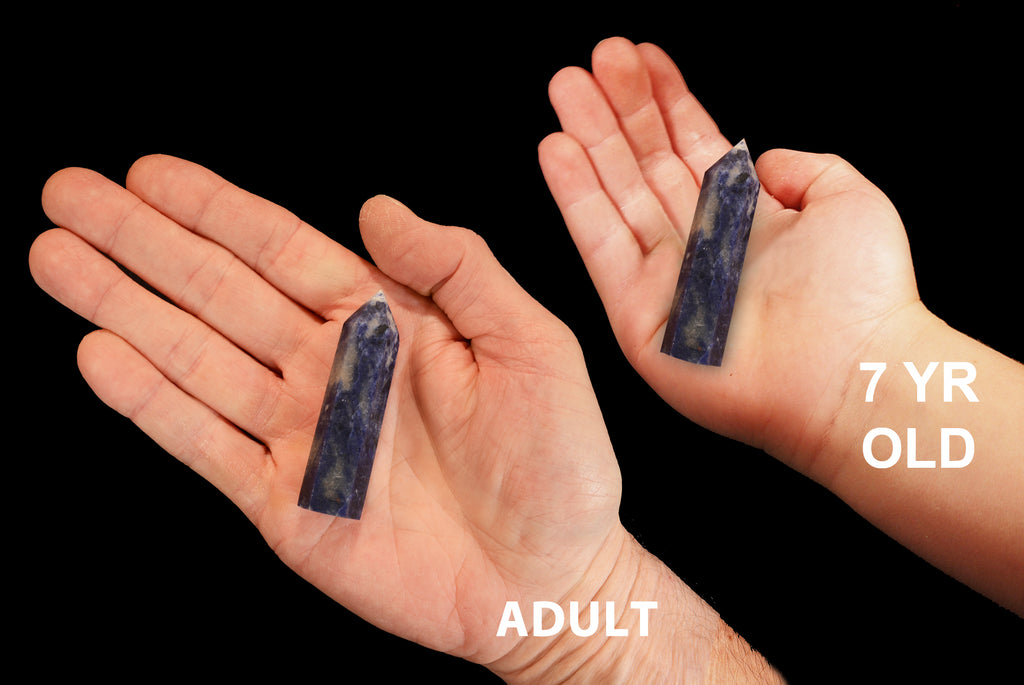 "Blue Sodalite Point 2 3/4"" Throat Chakra"