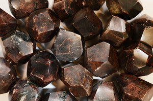 "Garnet Faceted Crystals 2"" 4-7 Oz Root Chakra"