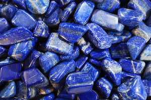 "Lapis Lazuli Tumbled 3/4"" 2 Pieces Throat Chakra"
