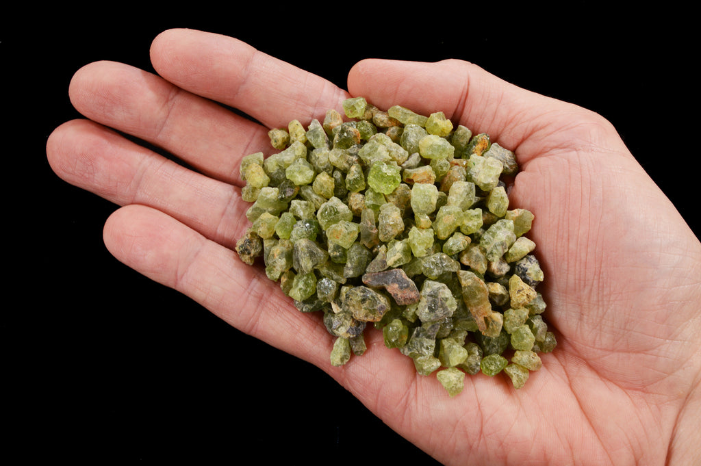"Peridot Crystals 3/8"" 6 Ounce Bag Heart Chakra - Kidz Rocks"