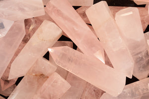 "Rose Quartz Crystal 2 3/4"" Heart Chakra"
