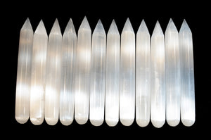 "Selenite Crystal Wand 6"" Crown Chakra"