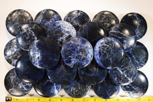 "Blue Sodalite Palm Stone 2 1/2"" Throat Chakra"