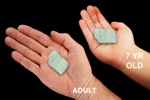 "Aquamarine Crystal 1"" Set of 2 Throat Chakra - Kidz Rocks"