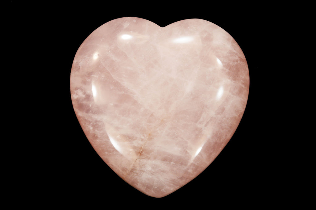 "Rose Quartz Heart 1 1/2"" Heart Chakra - Kidz Rocks"