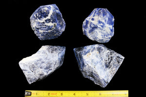 "Blue Sodalite Polished Top 4"" 12-14 Oz Throat Chakra - Kidz Rocks"